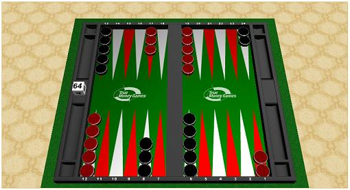 Play Money Backgammon table from True Money Games